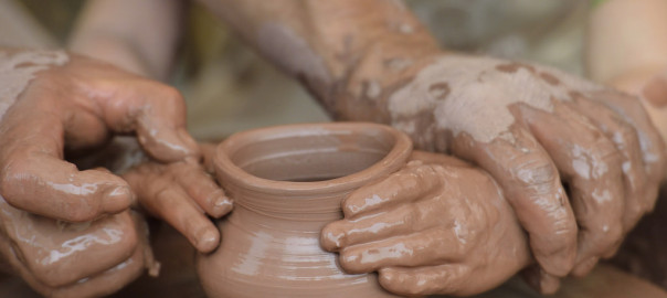 Child's Hands in Clay